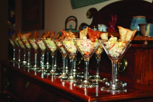 Martini glass appetizers