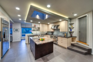Treve Johnson Photography likes when clients, such as 2M Architecture (which remodeled this kitchen), use his photographs on their social media sites, as long as his firm is credited.