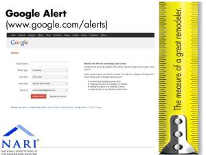 Setting up a Google alert for your company