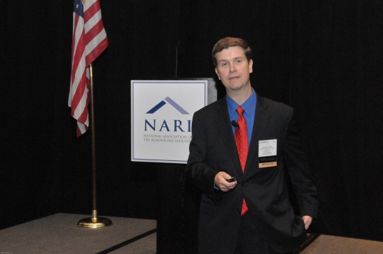 Jonathan Smoke, Hanley Wood's chief economist, shares good news with NARI delegates at the 2013 Leadership Summit: The remodeling outlook is good heading into 2014.