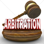 arbitration-word-and-gavel-for-settlement-or-decision